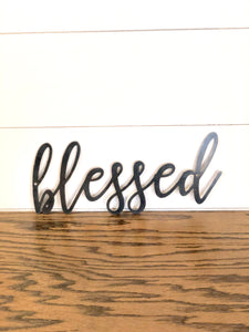 BLESSED Script Metal Word Wall Expressions