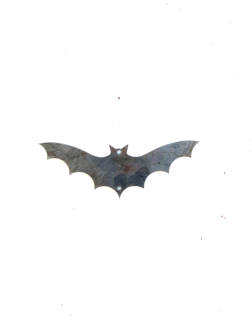 Bat metal ornament or small sign