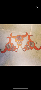 Southwest buffalo skull metal cutout