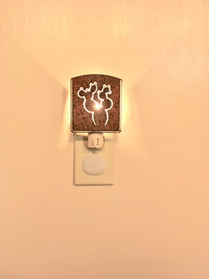 Custom Metal Night Light - Patty Cactus