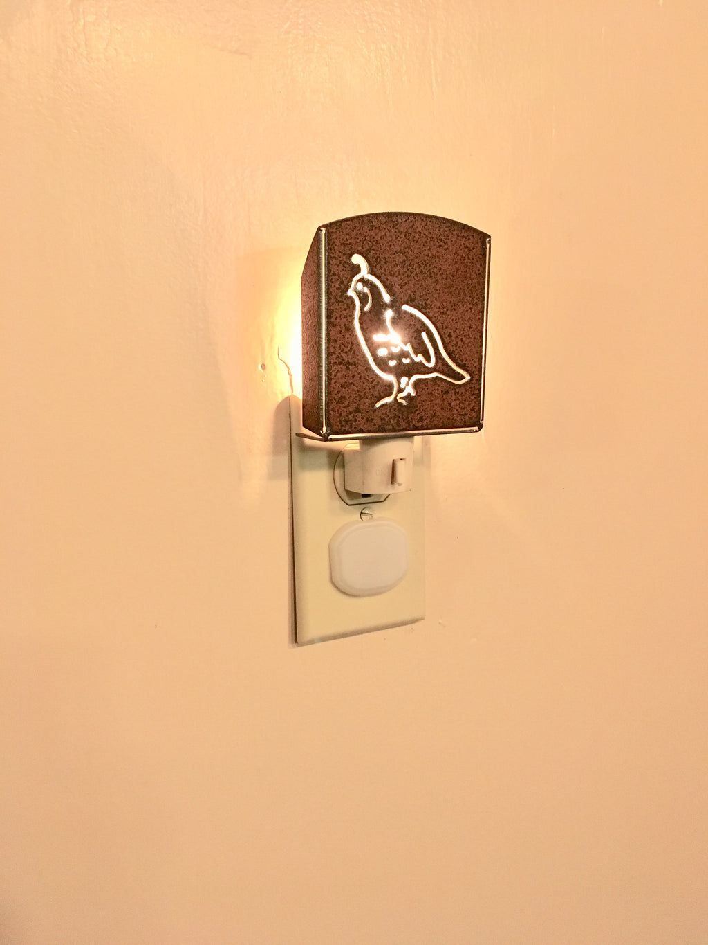 Custom Metal Night Light - Quail