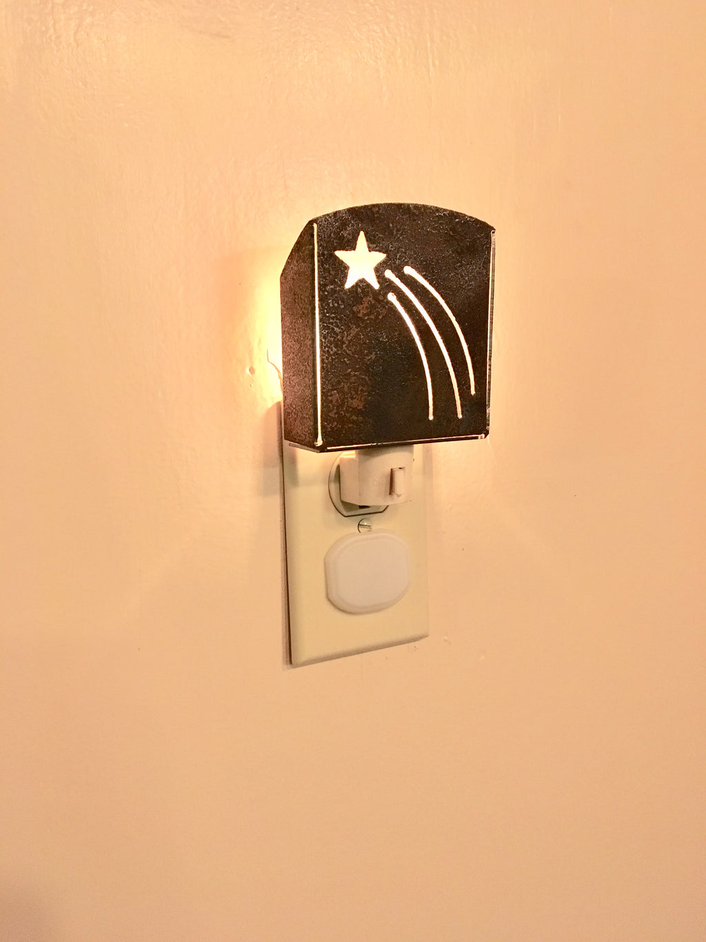 Custom Metal Night Light - Shooting Star