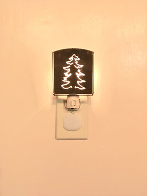 Custom Metal Night Light - Spruce Tree