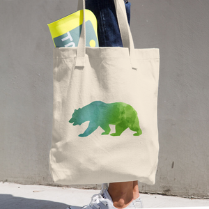 WILD BEAR COTTON TOTE BAG SIMPLE AND BEAUTIFUL DESIGN ON TWO SIDES