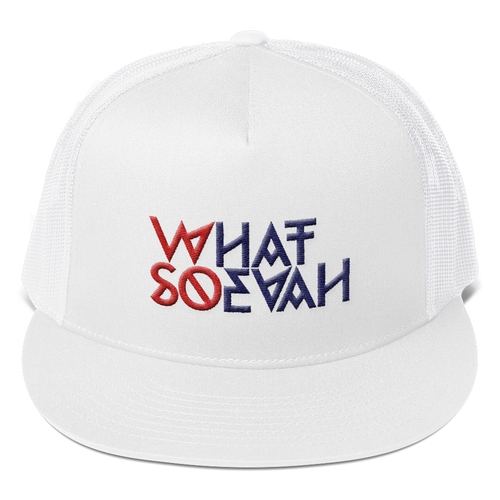 WHATSOEVAH TRUCKER CAP WHITE