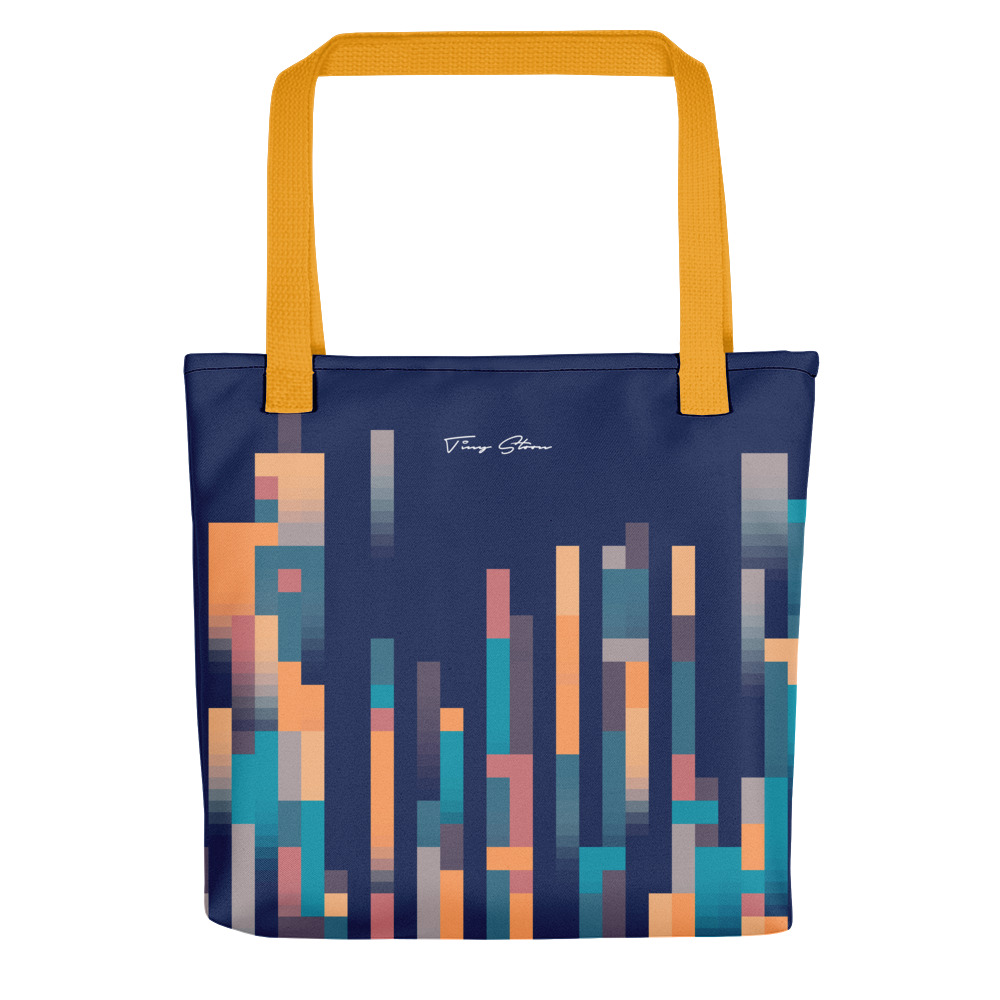LUXURIOUS PIXEL TOTE BAG WITH YELLOW BUNDLE