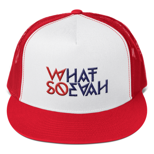 WHATSOEVAH TRUCKER CAP RED
