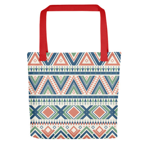 LUXURIOUS ORNAMENTAL TOTE BAG WITH RED BUNDLE