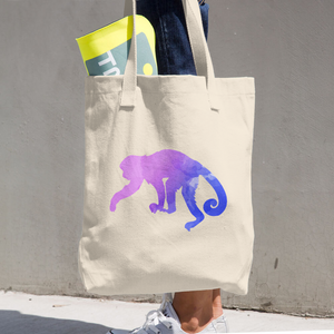 WILD MONKEY COTTON TOTE BAG SIMPLE AND BEAUTIFUL DESIGN ON TWO SIDES