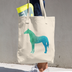 WILD HORSE COTTON TOTE BAG SIMPLE AND BEAUTIFUL DESIGN ON TWO SIDES