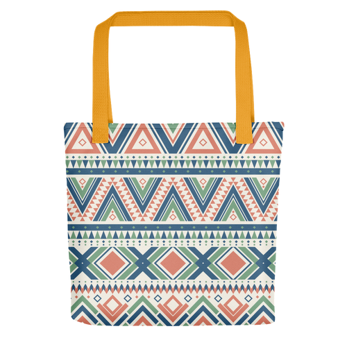 LUXURIOUS ORNAMENTAL TOTE BAG WITH YELLOW BUNDLE