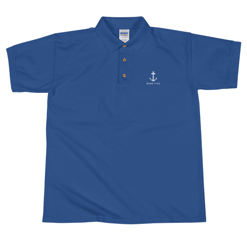 BONA FIDE ROYAL NAVY BLUE POLO FOR MEN