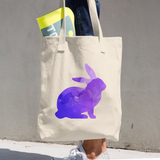 WILD RABBIT COTTON TOTE BAG SIMPLE AND BEAUTIFUL DESIGN ON TWO SIDES