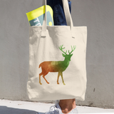 WILD DEER COTTON TOTE BAG SIMPLE AND BEAUTIFUL DESIGN ON TWO SIDES