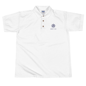 BONA FIDE WHITE NAVY POLO FOR MEN