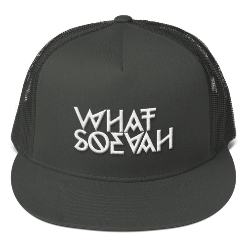 WHATSOEVAH TRUCKER CAP CHARCOAL
