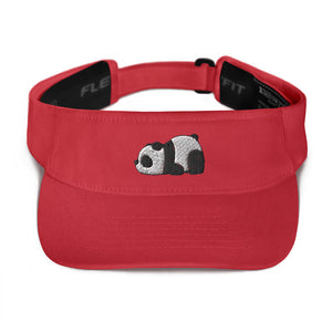 Lazy Panda Visor Hat Red Limited