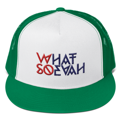 WHATSOEVAH TRUCKER CAP KELLY GREEN