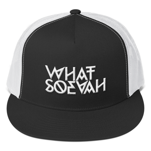 WHATSOEVAH TRUCKER CAP CLASSICAL BLACK
