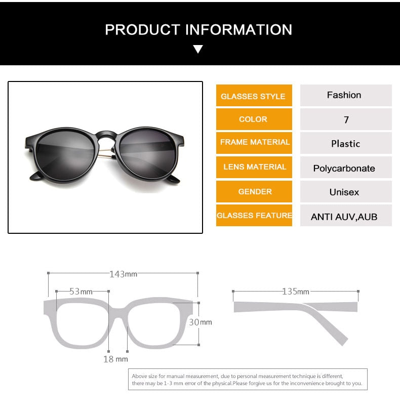 Retro Round Sunglasses Women And Men - The Discount Market