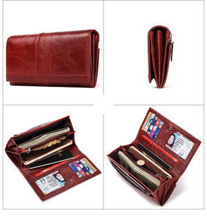 Genuine Leather Women Fashion Clutch Wallet - The Discount Market