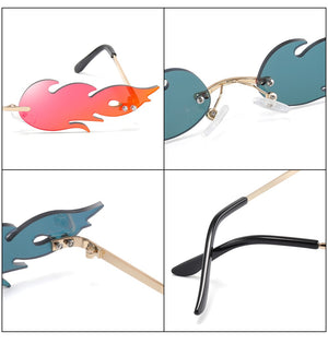 New Fashion Fire Flame Women Sunglasses - The Discount Market