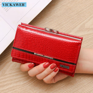 Patchwork Genuine Leather  Womens Wallets - The Discount Market