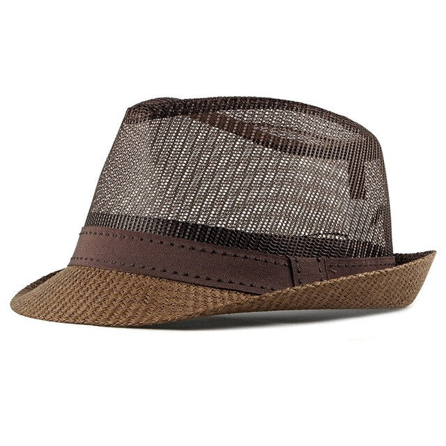 Summer Straw Hat Retro Men's Fedoras - The Discount Market
