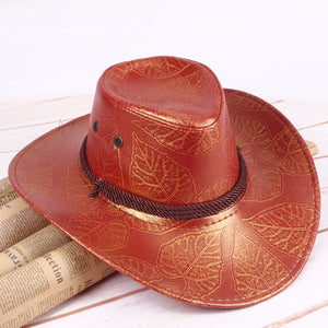 Western Faux Leather Cowboy Hats - The Discount Market