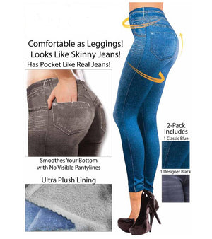 Stretchy Slim Leggings Sexy imitation Jean Skinny - The Discount Market