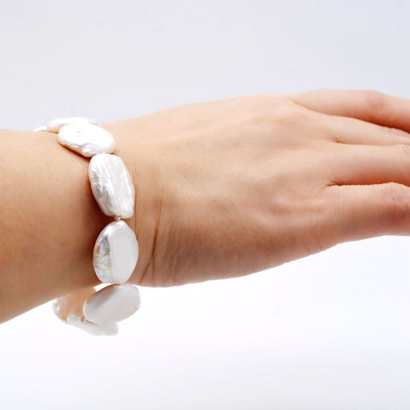 Coin  Women's Pearl Bracelet, - The Discount Market