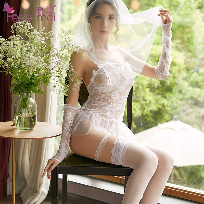 Sexy Wedding Dress White Lingerie