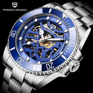 Stainless Steel Waterproof Luxury Mechanical Watch