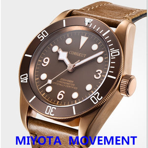 Corgeut 41mm Miyota  Military Watch