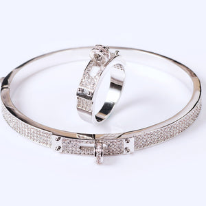 Blucome Women's Zircon Bangle - The Discount Market