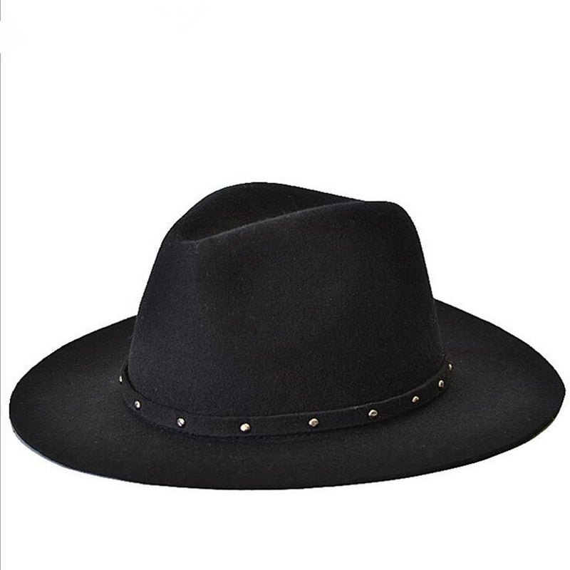 New Fashionable Women 100% Wool Jazz Hat - The Discount Market