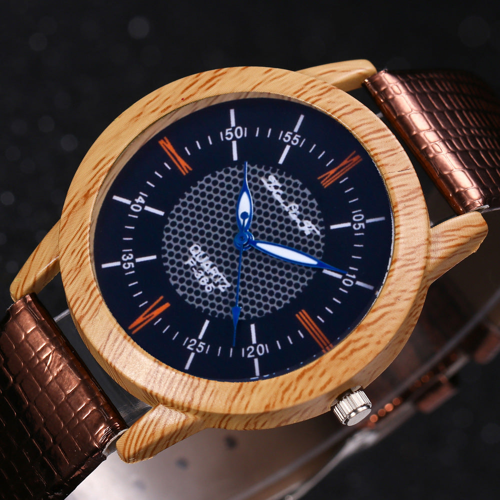 Women or Mens Natural Bamboo Wood  Watch - The Discount Market