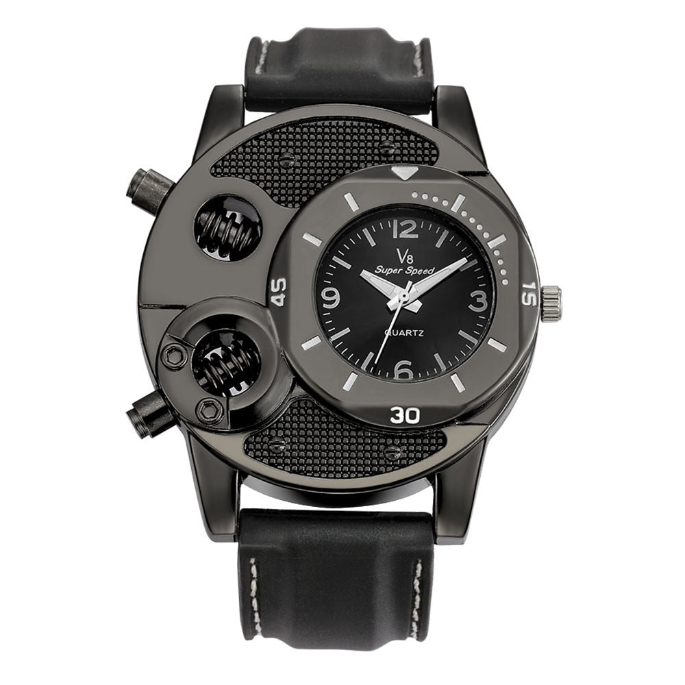 Mens Watches Top Brand Luxury V8 Men's Wrist Watches Fashion Designer Gifts For Men Sport Quartz Watch relojes para hombre 2019 - The Discount Market