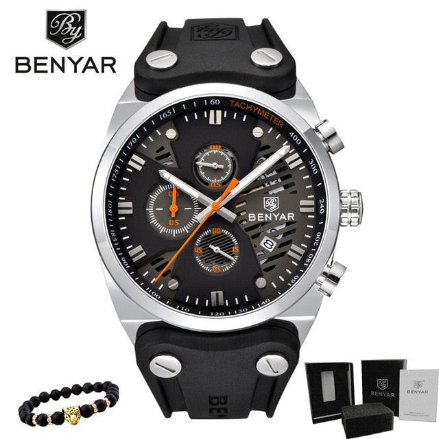 Luxury Skeleton Waterproof  Sports Chronograph Watch - The Discount Market