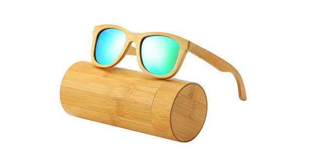 AN SWALLOW Real Bamboo Wood Sunglasses - The Discount Market