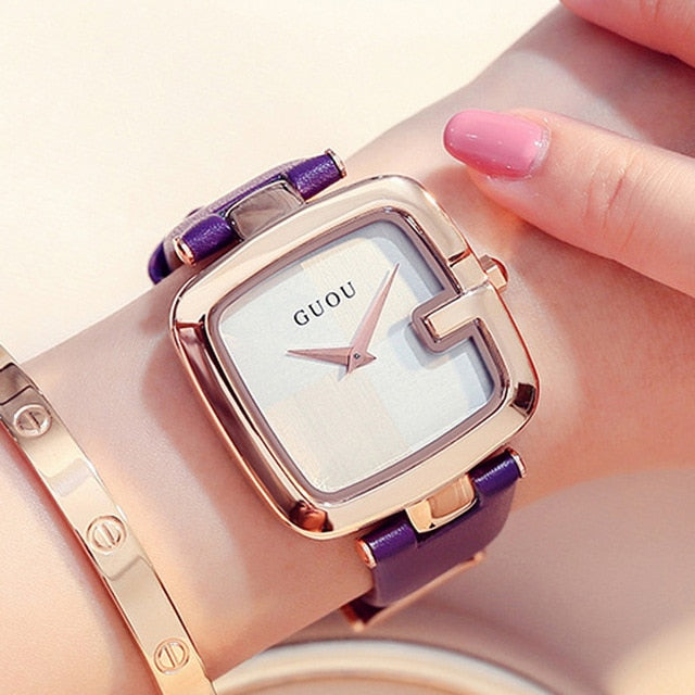 GUOU Women's Watches 2019 Square Fashion - The Discount Market