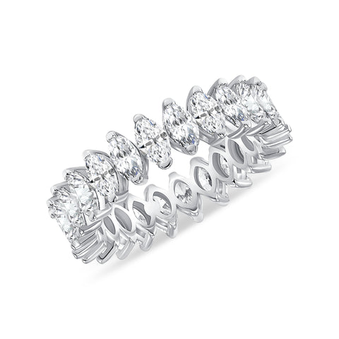 Marquise Cut Eternity Band