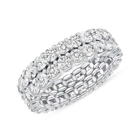 Round Cut Eternity Band