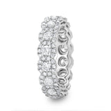 Round Diamond Halo Eternity Band