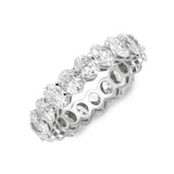 Oval Cut Halo Eternity Band