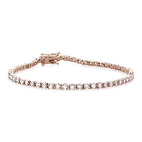 Round Diamond Tennis Bracelet Big