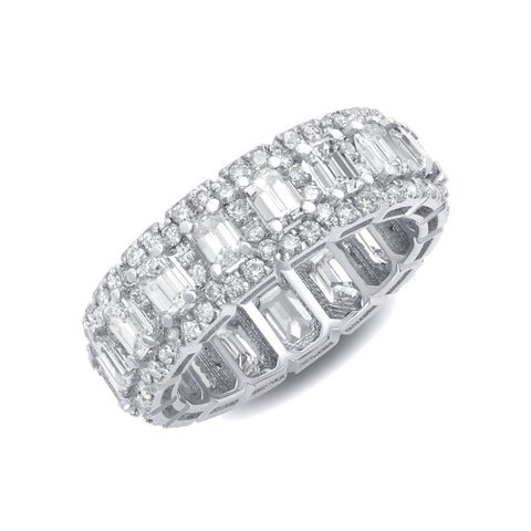 Emerald Cut Halo Band