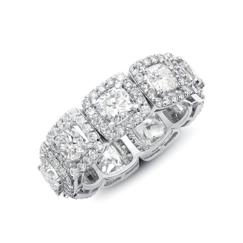 Cushion Cut Epic Halo Band
