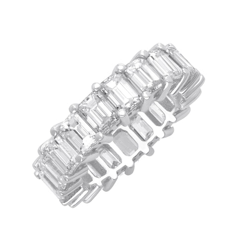 Emerald Cut Epic Eternity Band