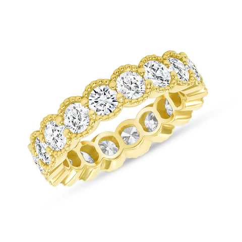 Round Milgrain Eternity Band